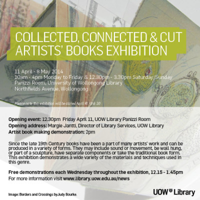Collected Connected & Cut -  Artists' Books exhibition