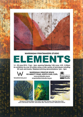 'Elements'  Printmaking and Artist Books Exhibition